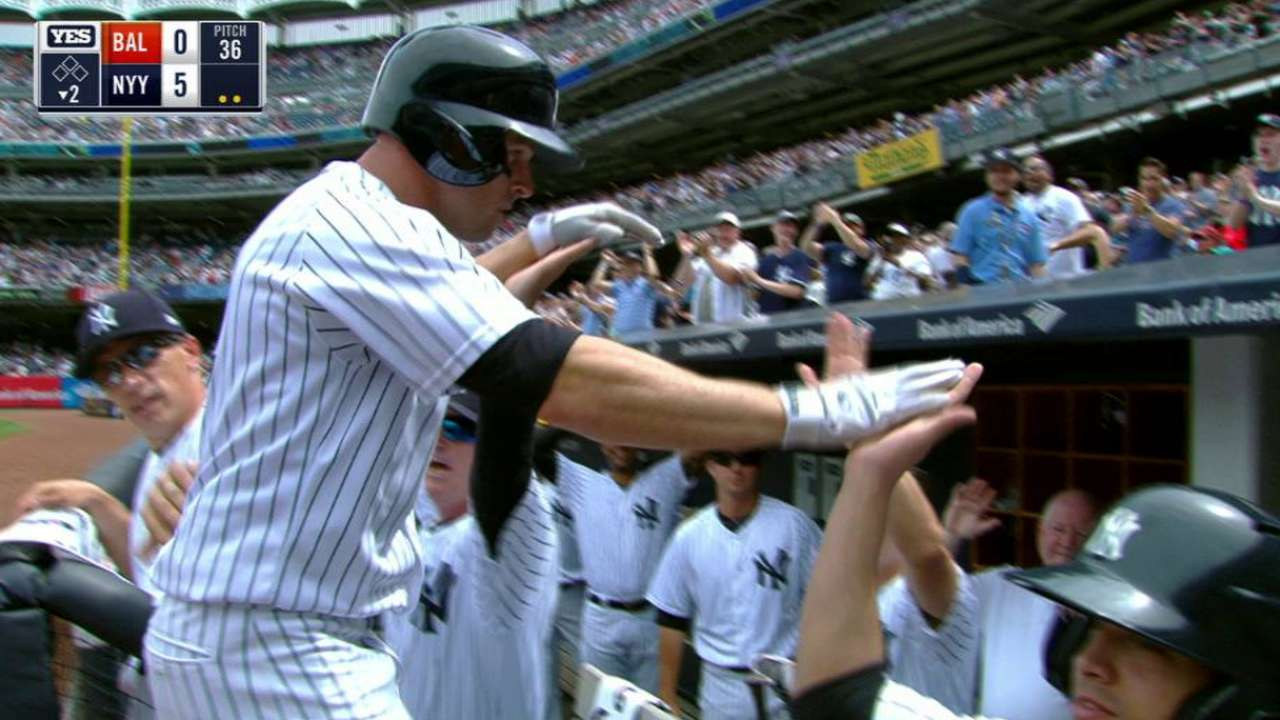 Gardner slugs a three-run homer
