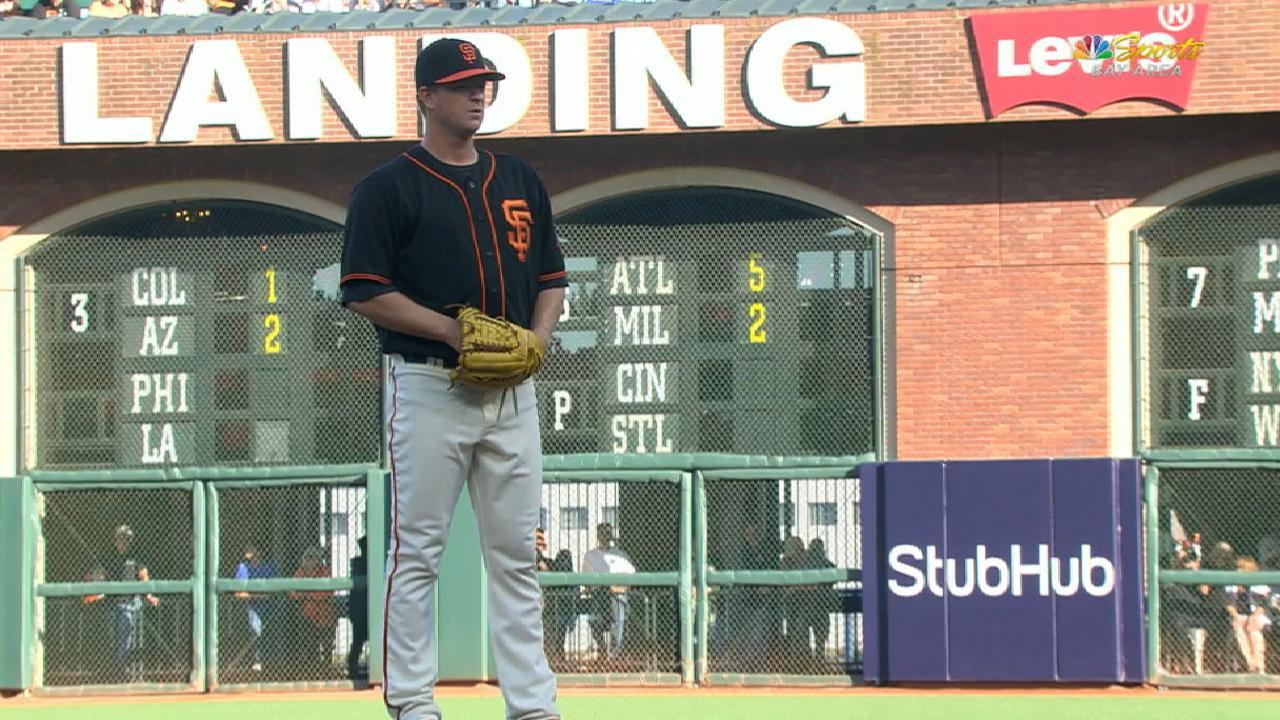 Cain to get start Saturday vs. Padres