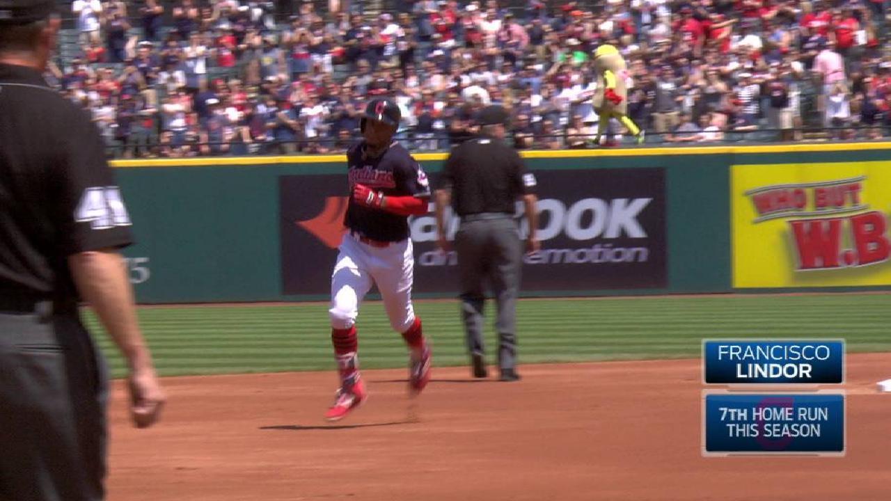 Lindor's solo home run