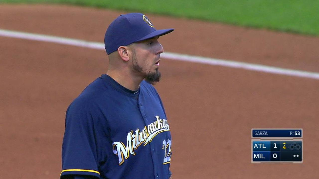 Garza strikes out Markakis