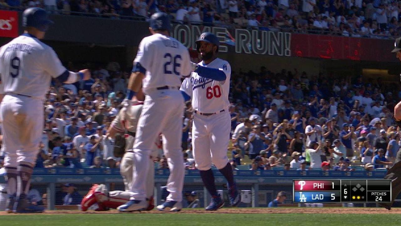 Toles' three-run home run