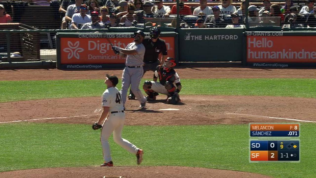 Sanchez's clutch homer burns former team