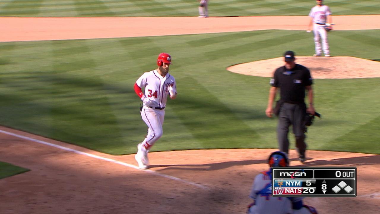Harper sets MLB record for runs in April