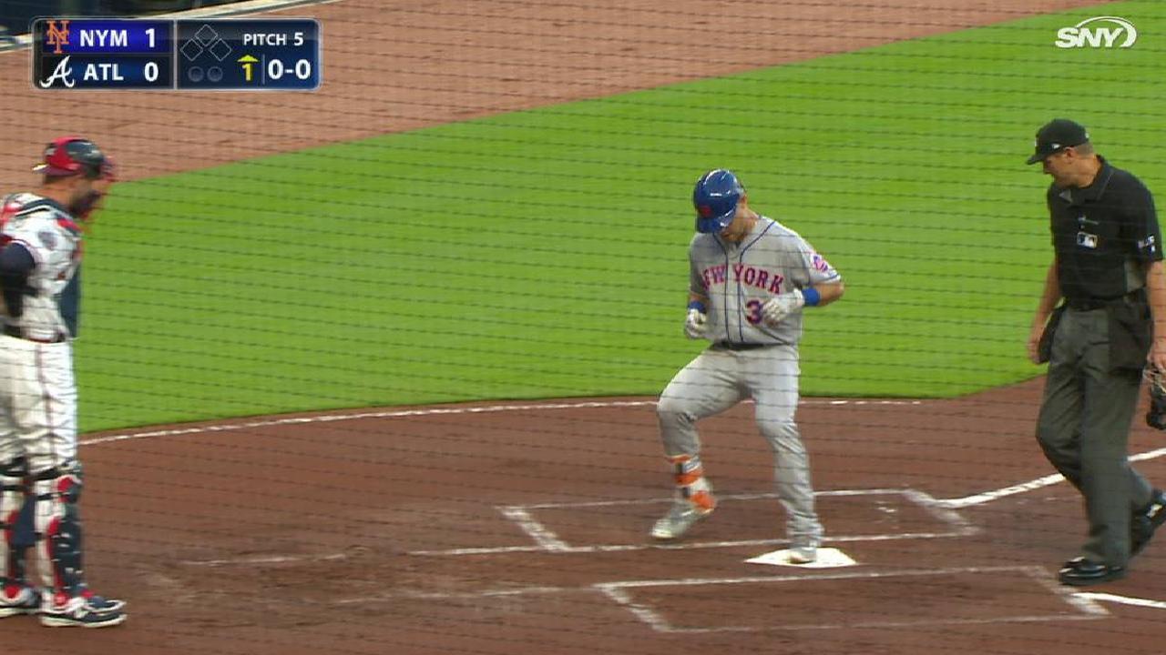 Conforto's leadoff home run