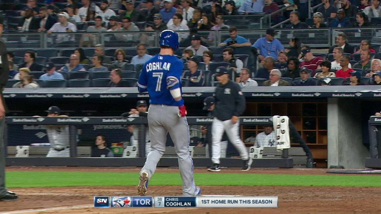 Coghlan's solo homer to right