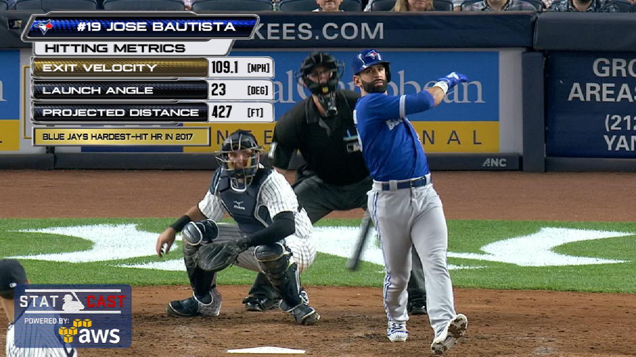 Statcast: Bautista's 433-ft. HR