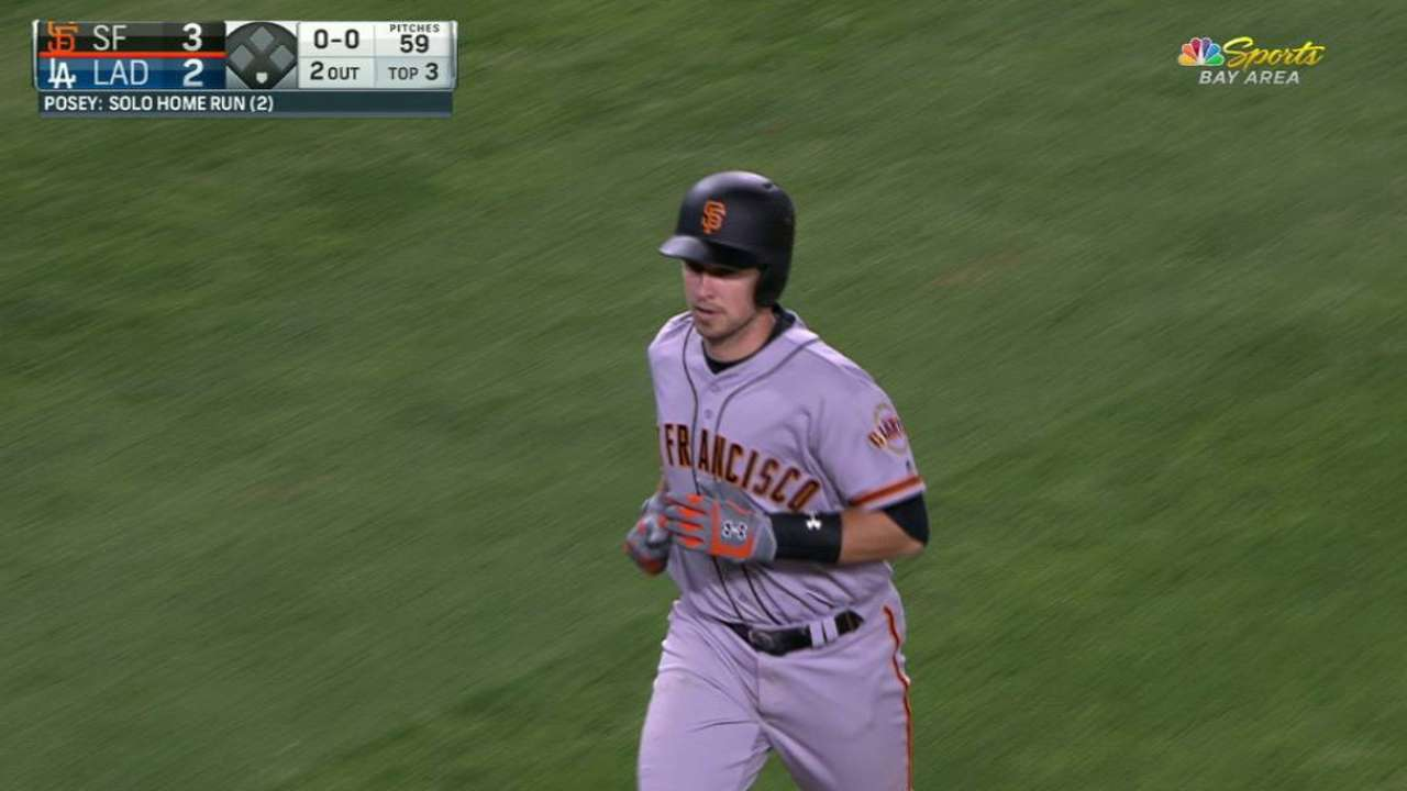 Posey's solo home run