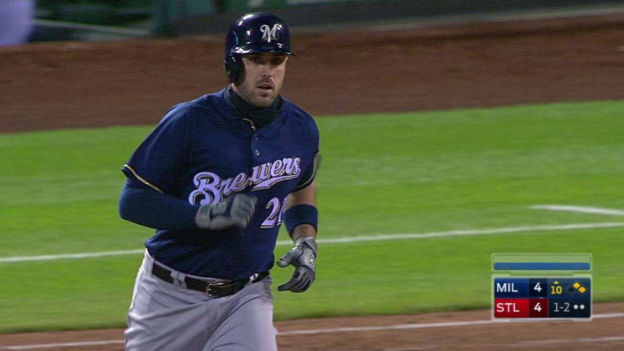 Shaw's HR in 10th propels Brewers over Cards