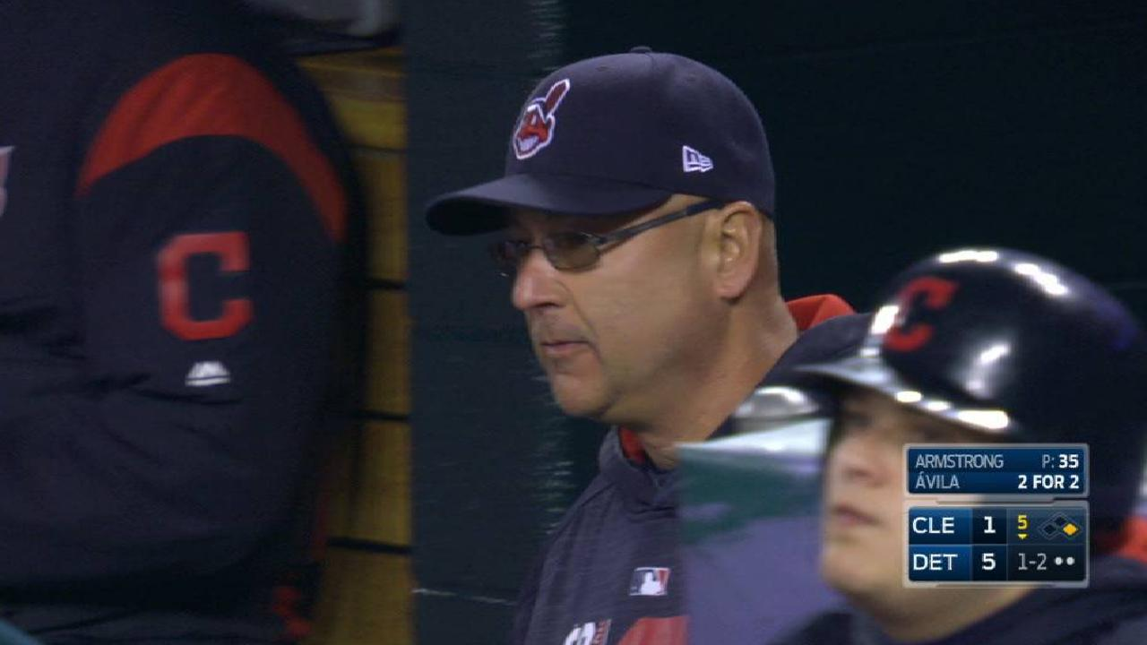 Kluber exits with an injury