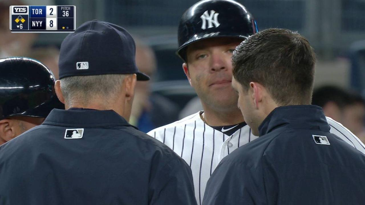 Romine exits with cramping in right groin