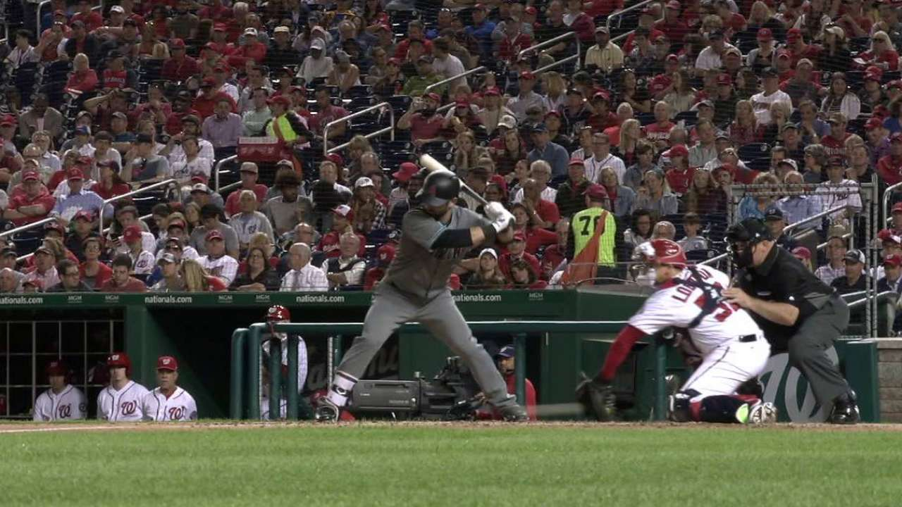 Descalso's hit-by-pitch