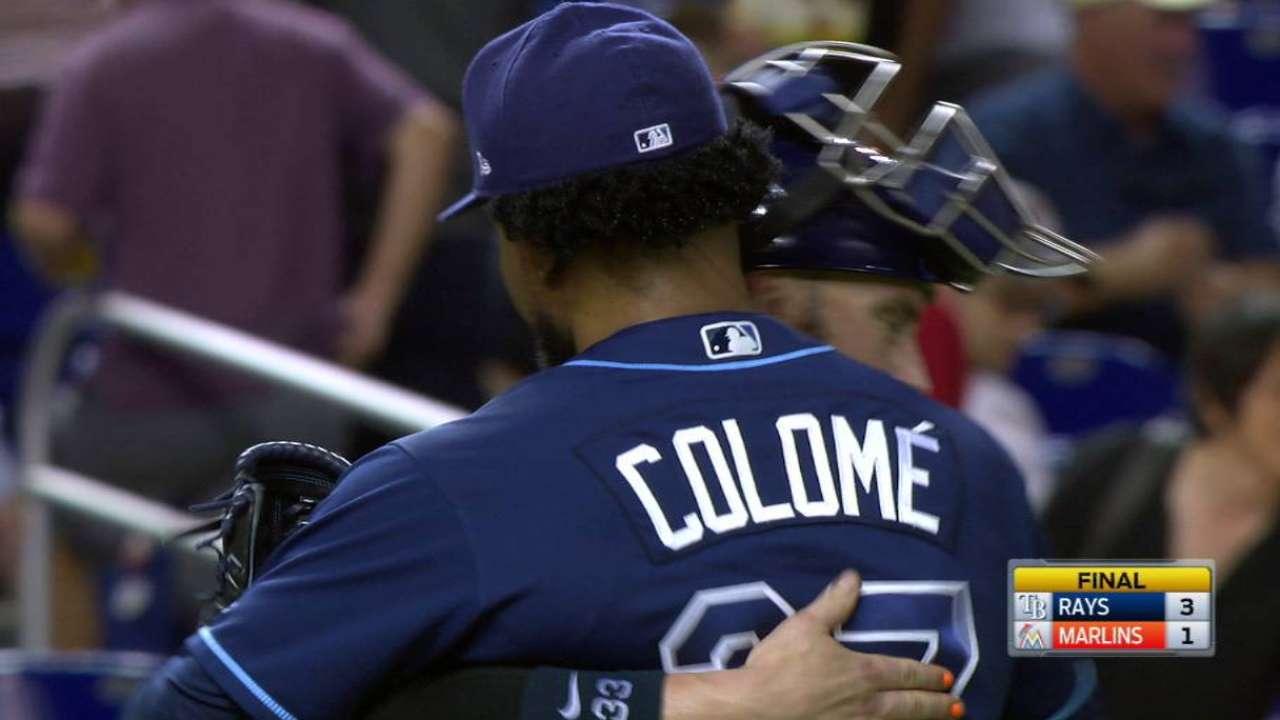 Cobb domina a Marlins y Rays prevalecen en Miami