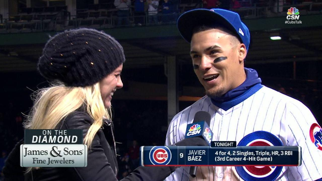 Baez on big game at the plate