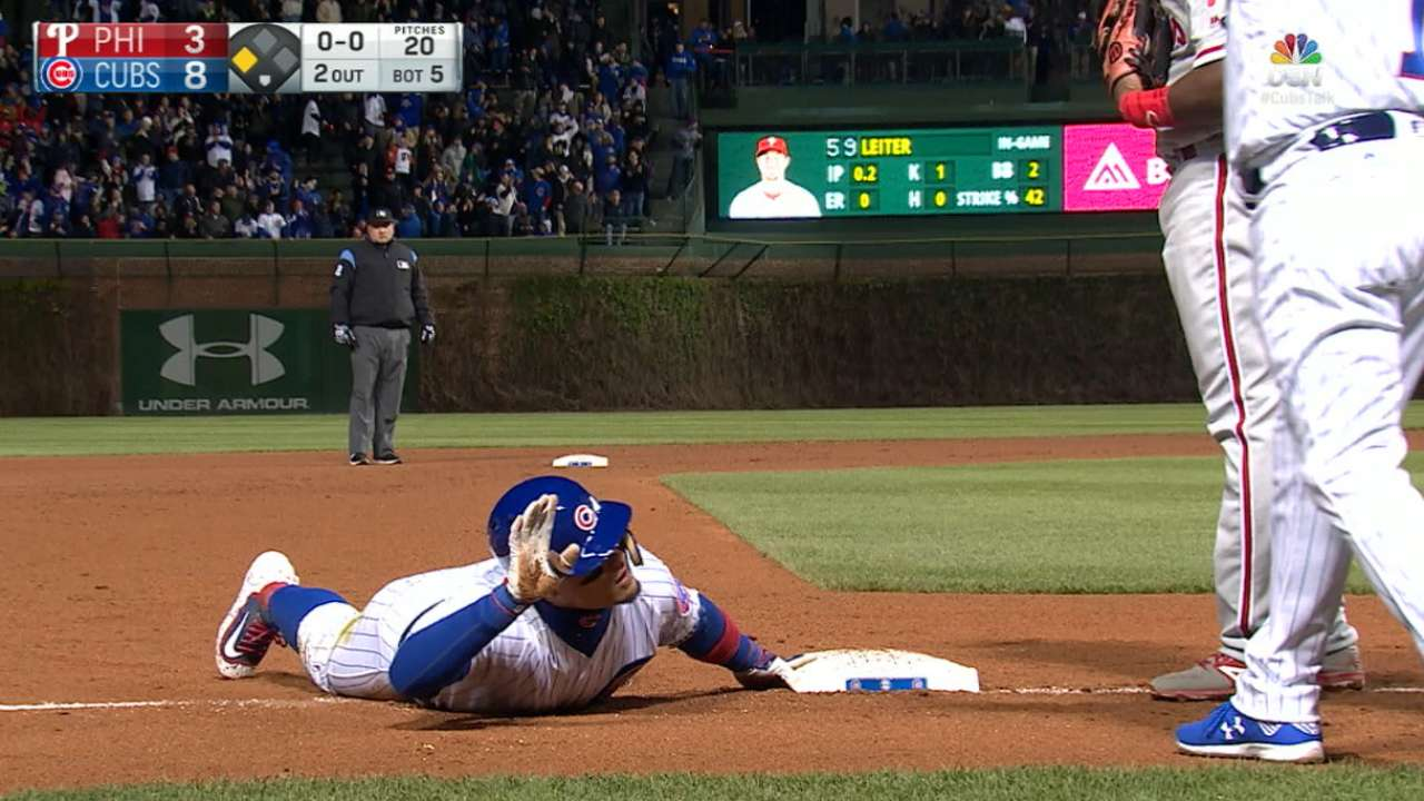 Baez's four-hit game