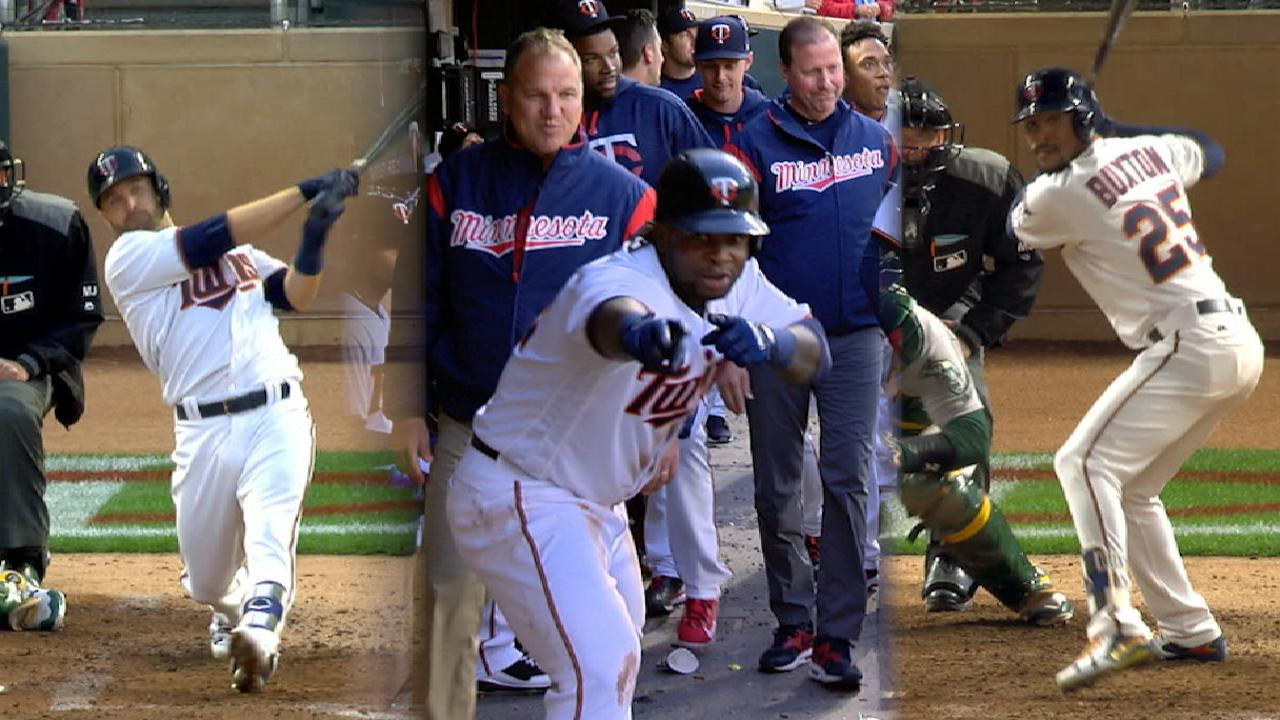 Twins hit six home runs to sink A's