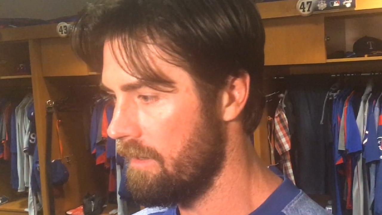 Hamels on oblique injury