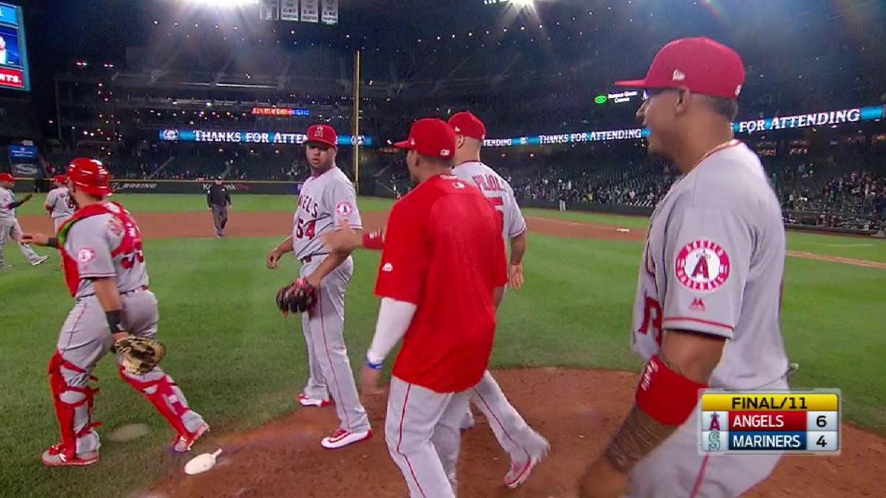 Halos rally for MLB-best 11th comeback win