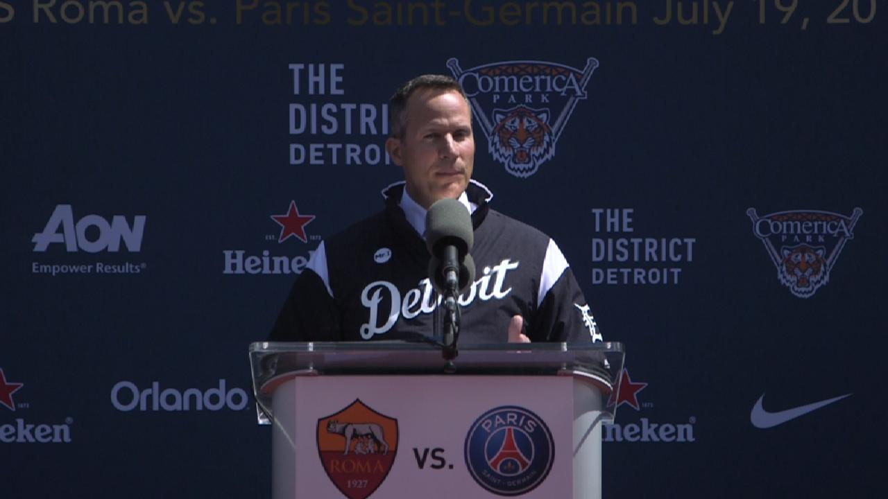 1st pro soccer match at Comerica set for July