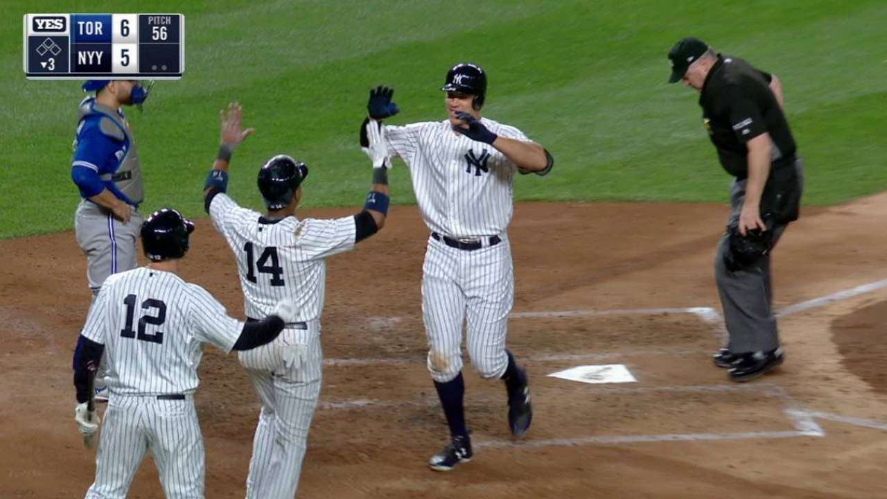 Judge's two-run homer