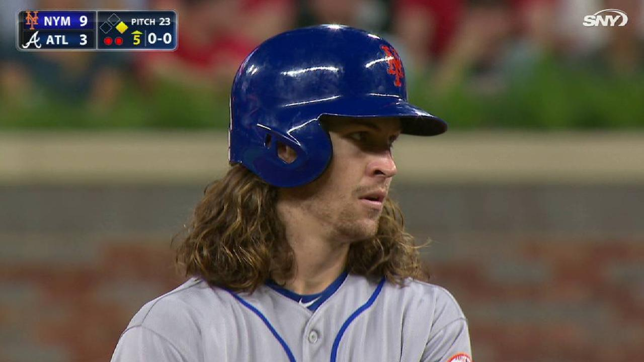deGrom's two-run single