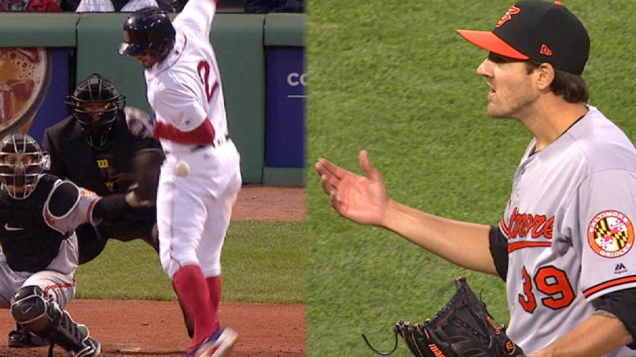 O's Gausman ejected for hitting Bogaerts