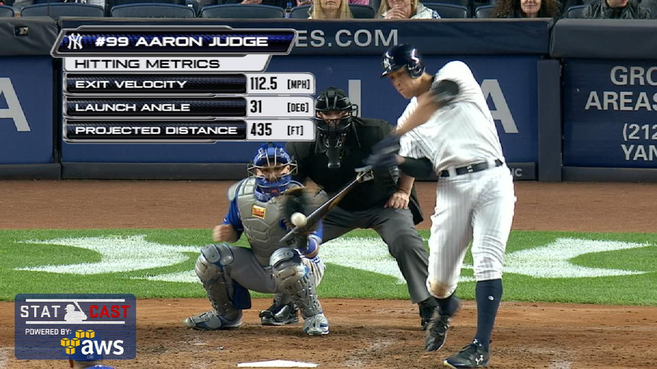 Judge's 13th HR a record for young sluggers