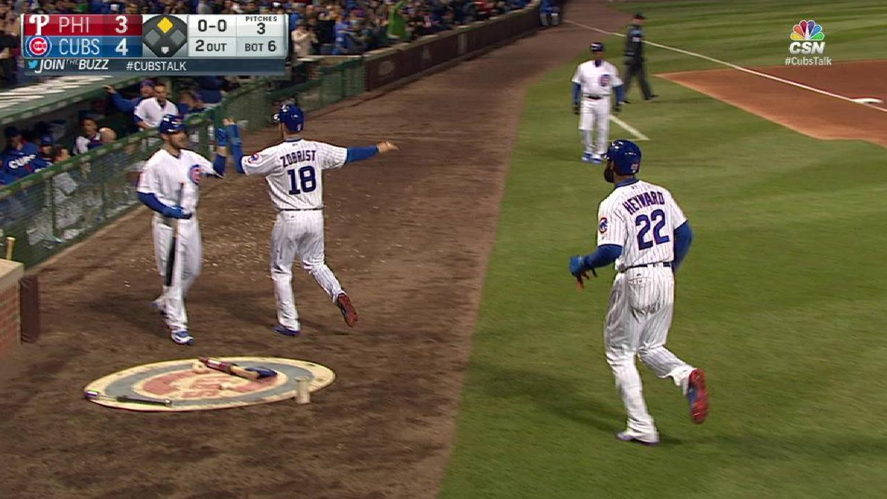 Cubs awaken with 4-run 6th, hold off Phillies