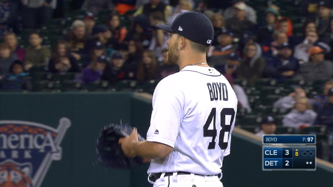 Boyd sets Tigers season high, laments 1 pitch