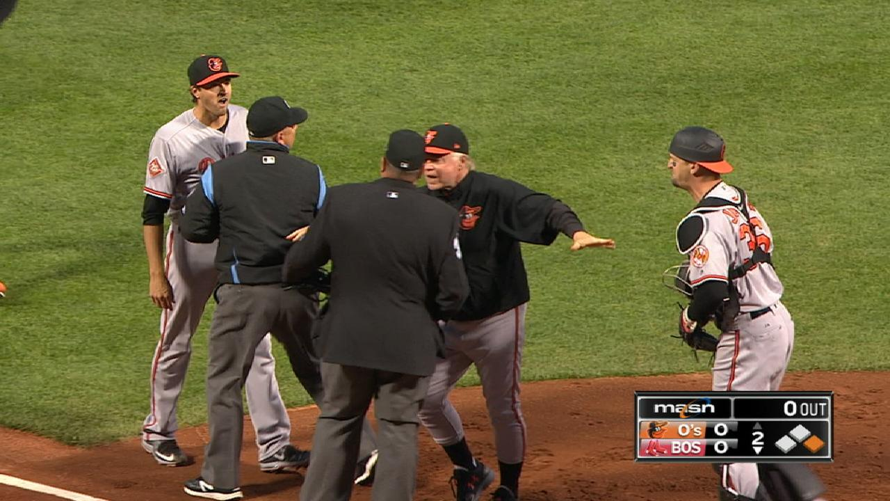 O's on Gausman's ejection