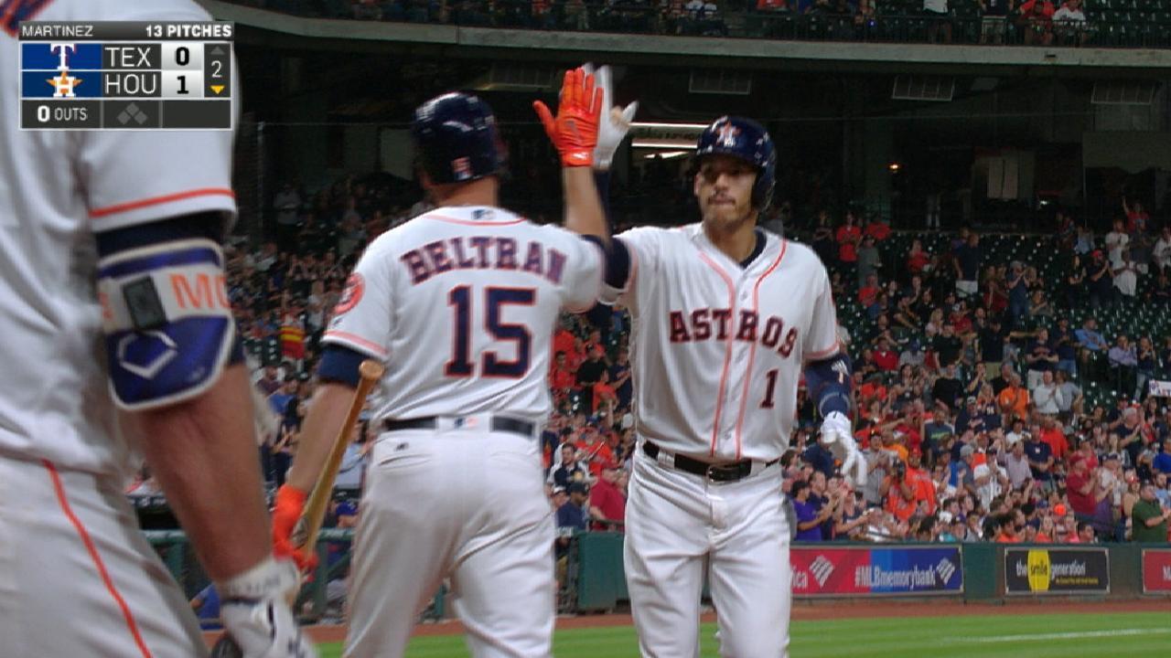 Astros boot Rangers on Correa's 4-hit night