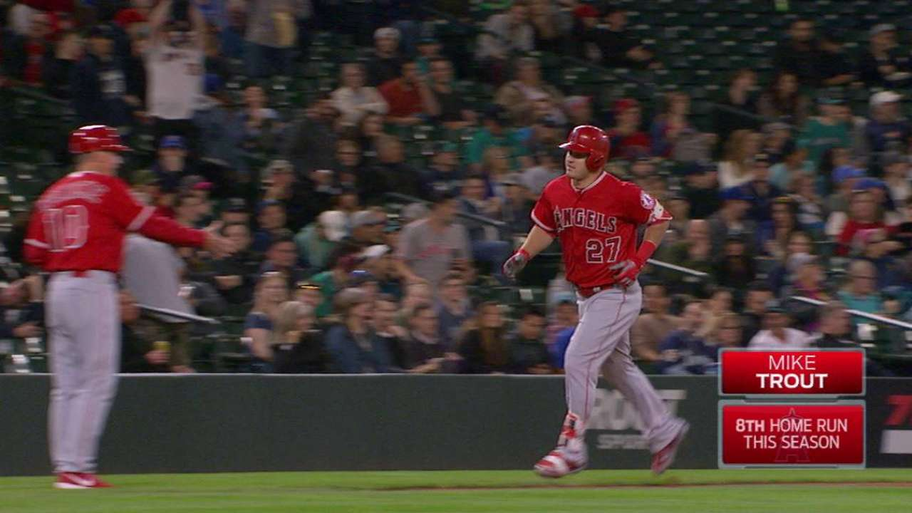 Trout's two-run home run