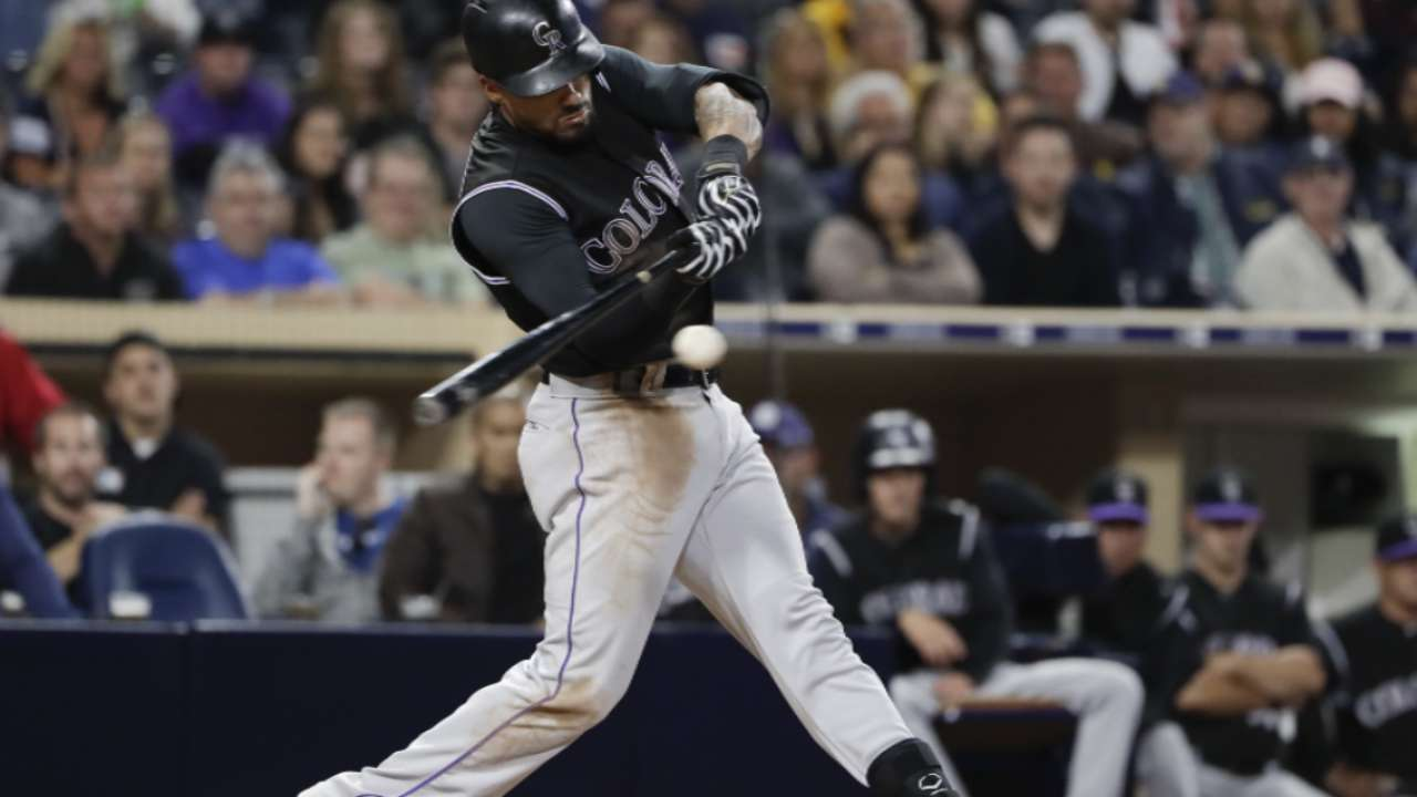 Desmond shows off power with two homers