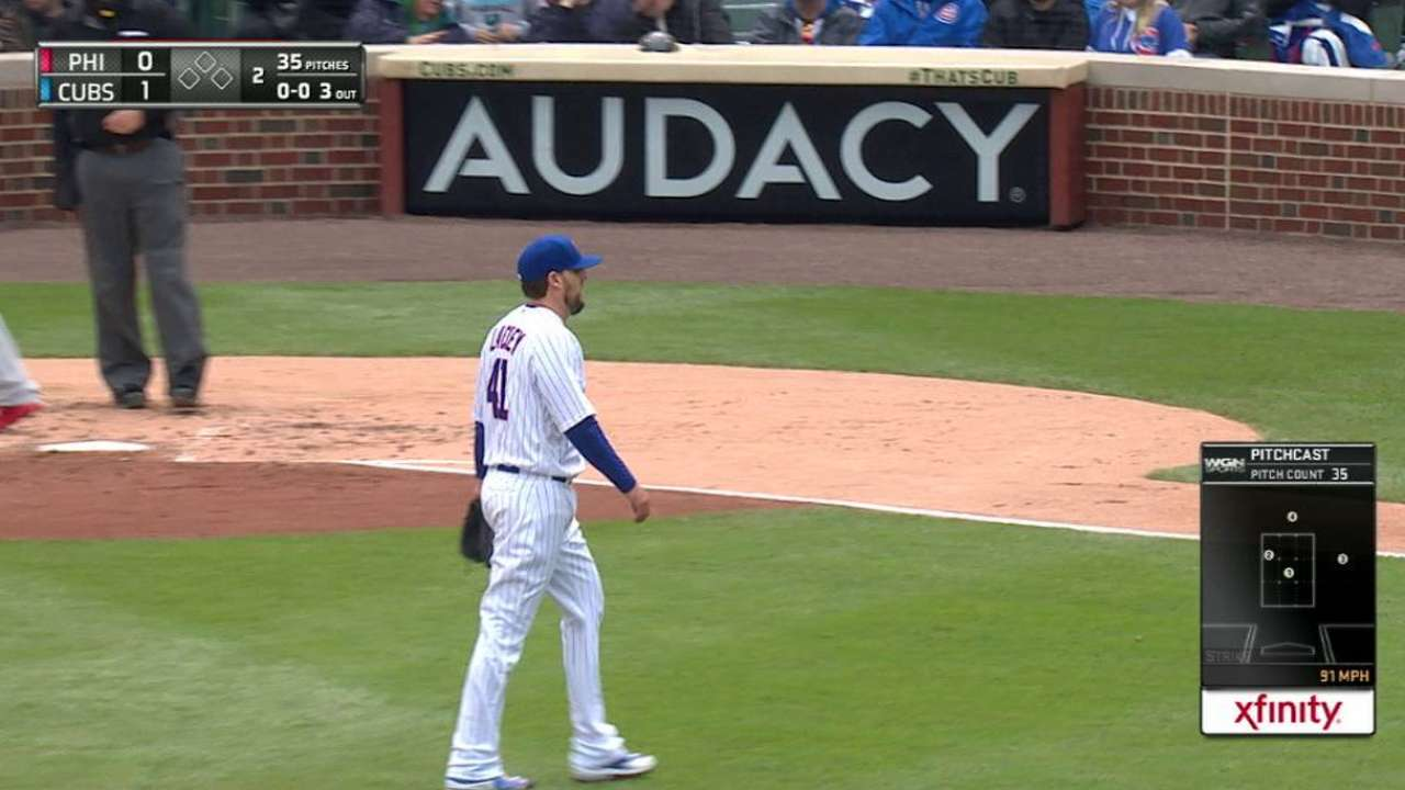 Lackey strikes out Rupp