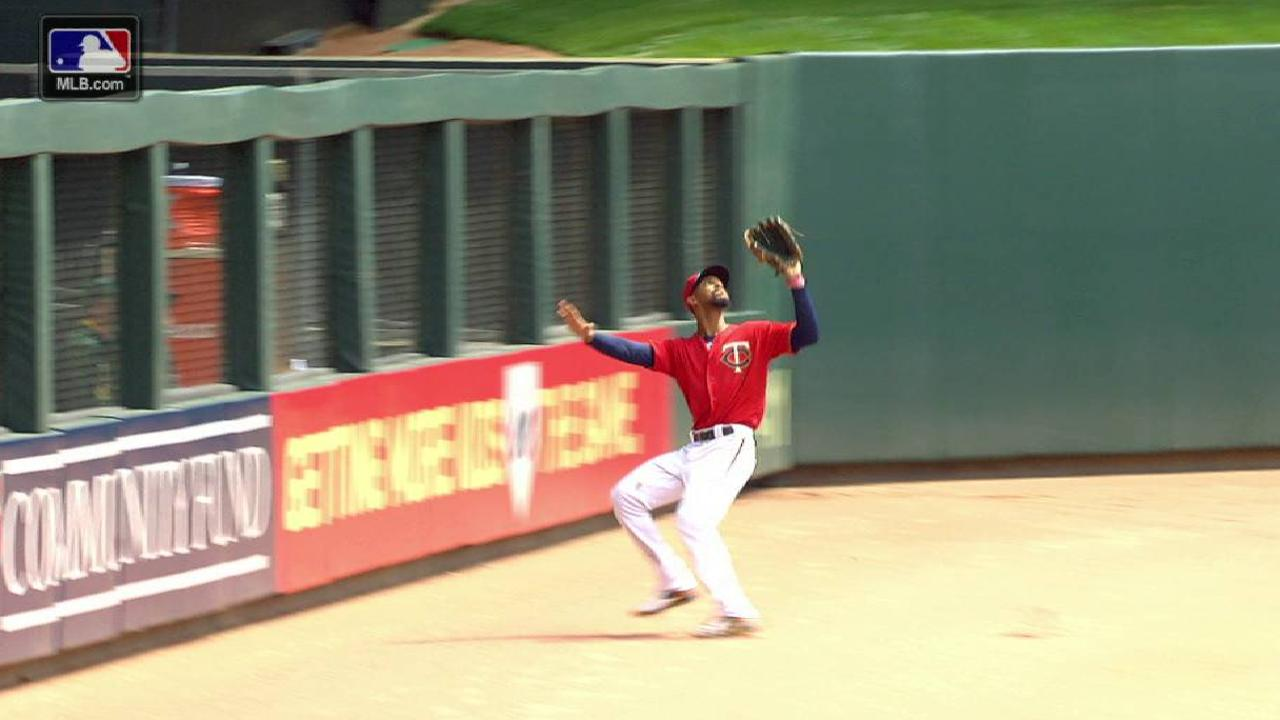 Buxton's nice grab in center