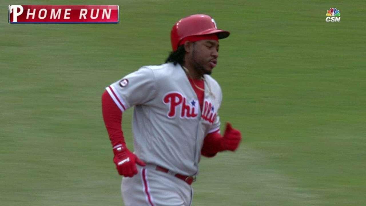Franco's solo home run