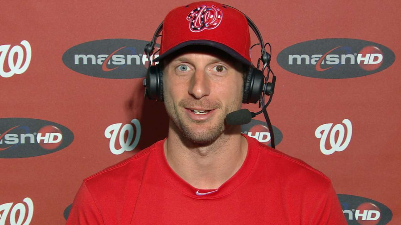 Scherzer on his outing in win