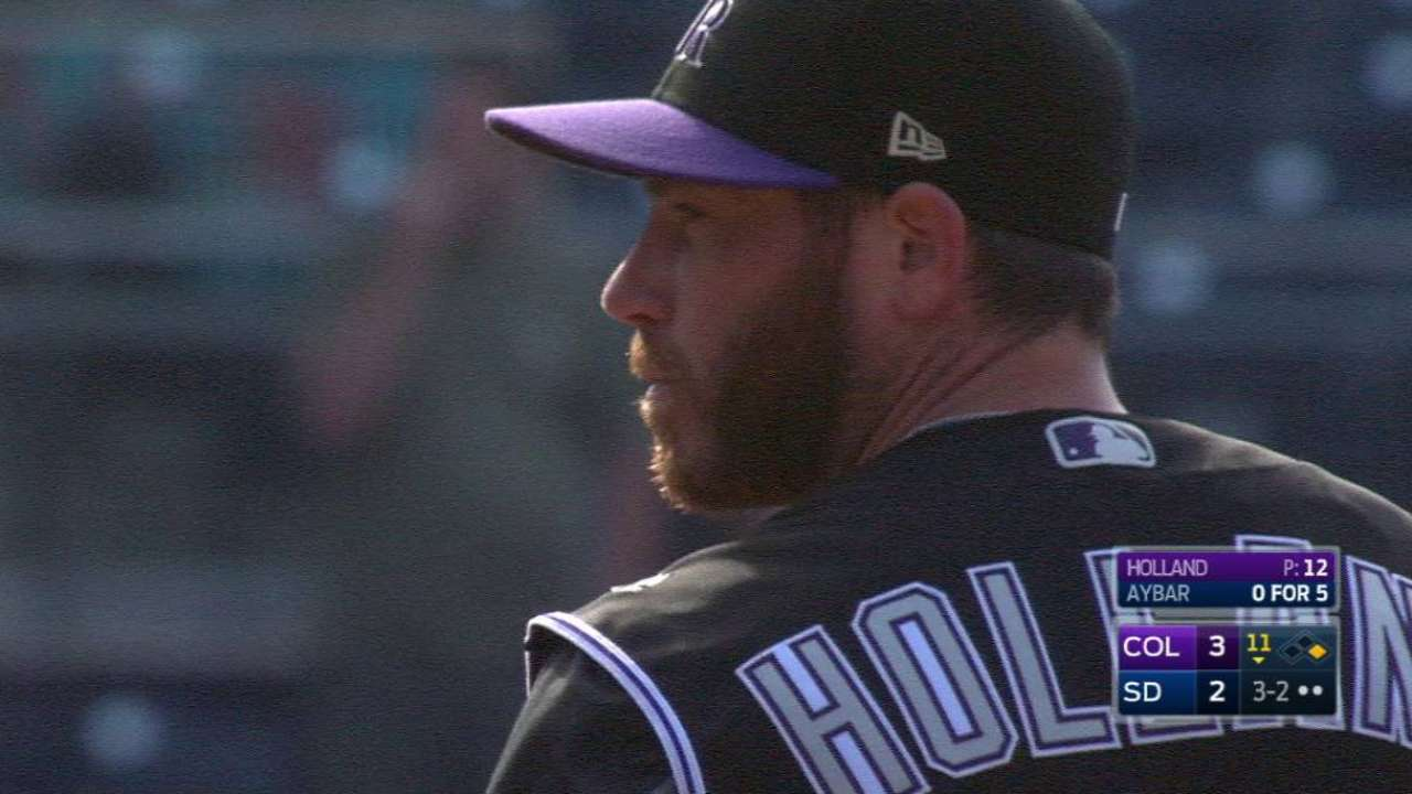 Holland picks up his 12th save