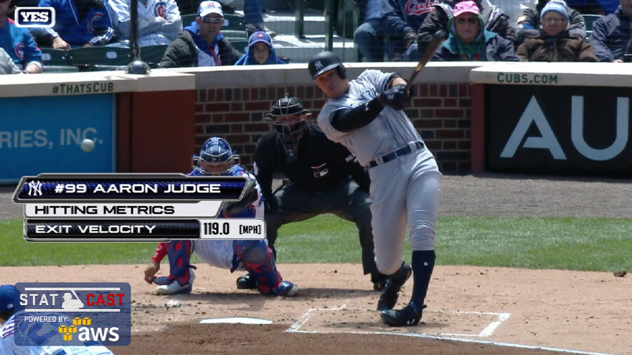 Statcast: Judge's laser double