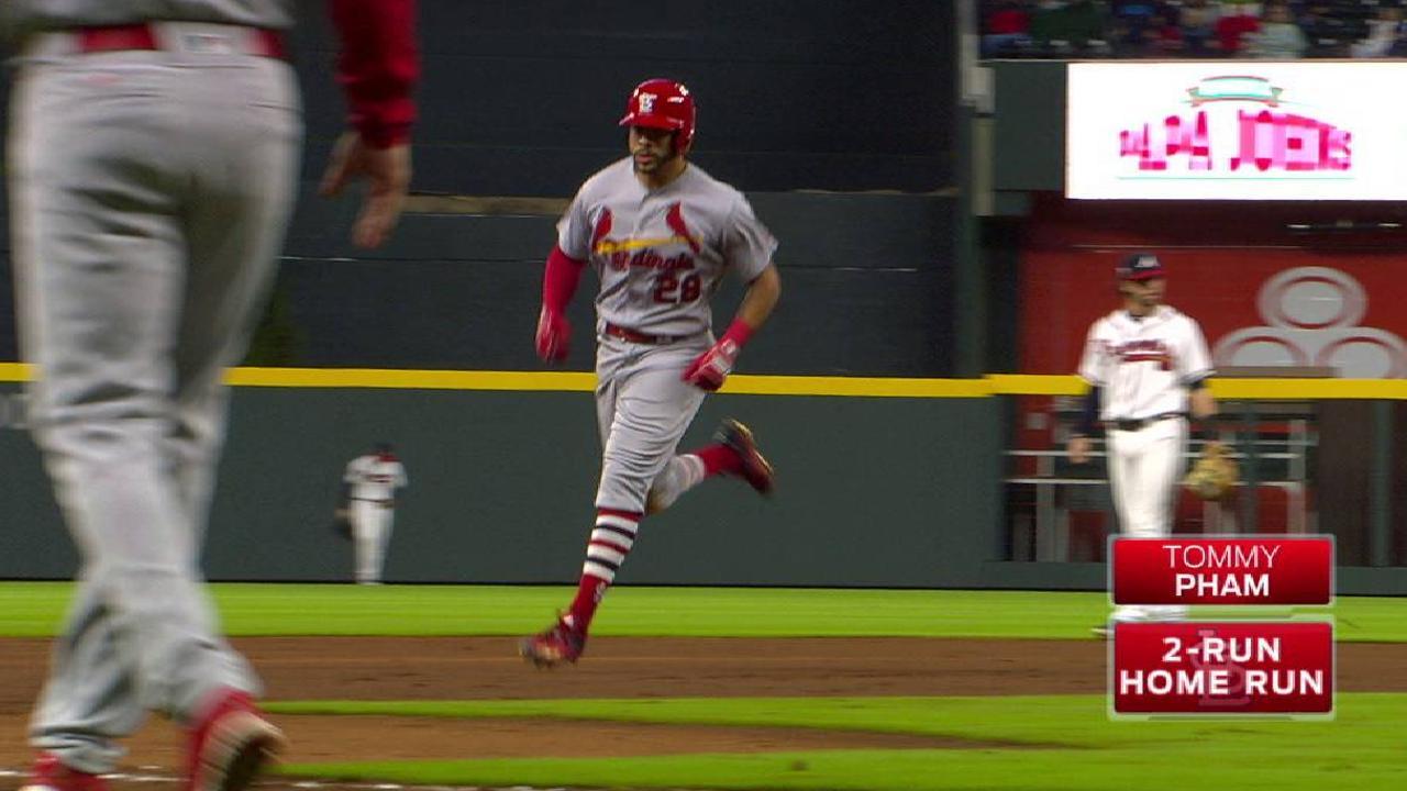 Pham's two-run home run