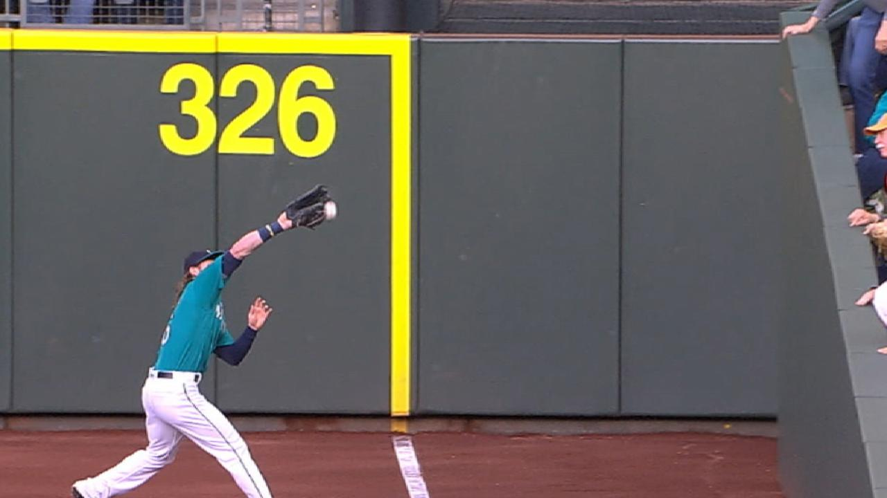 Andrus doubles off Gamel's glove