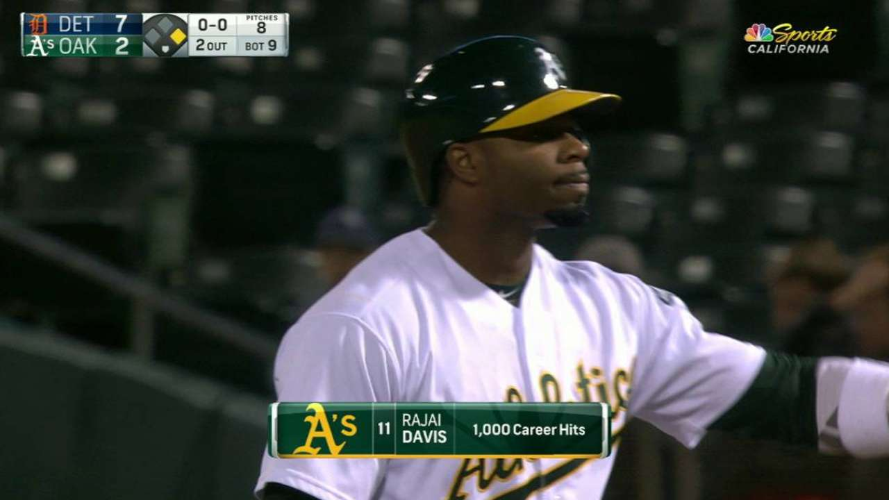 Davis' notches 1,000th hit