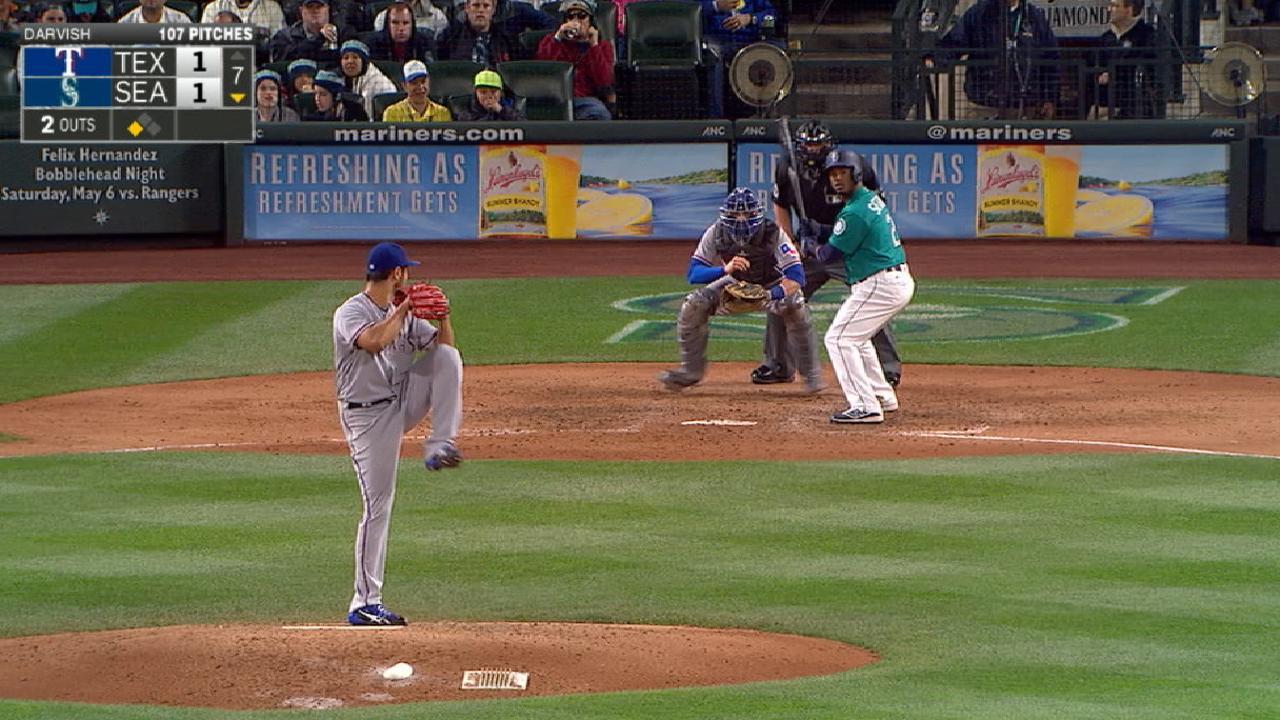 Darvish wins nine-pitch at-bat