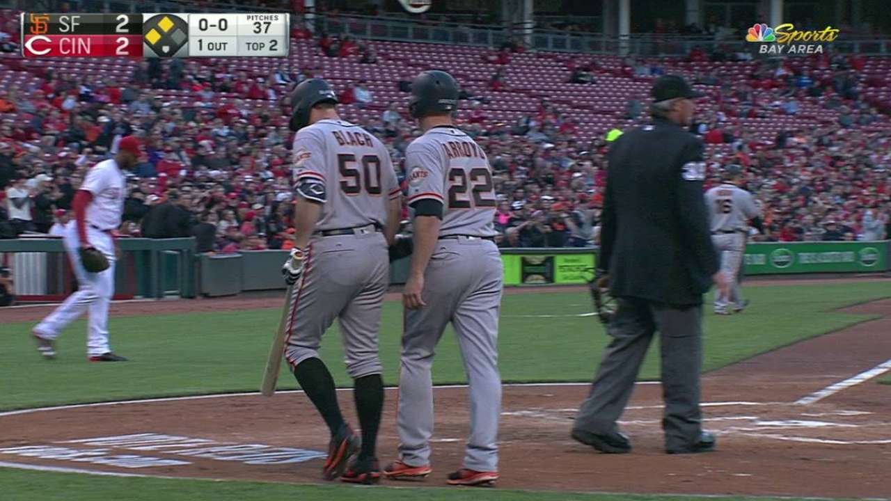 Bochy: Giants 'should be upset' by losses to Reds