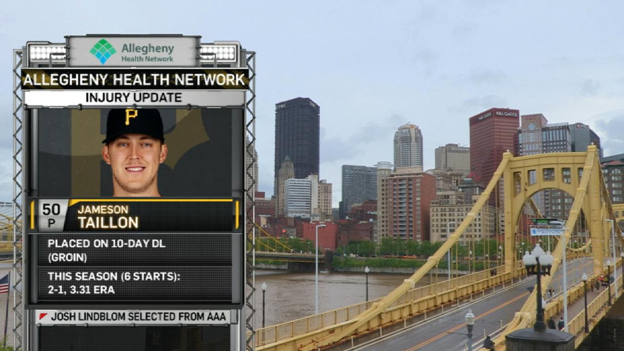 Taillon lands on DL with groin discomfort