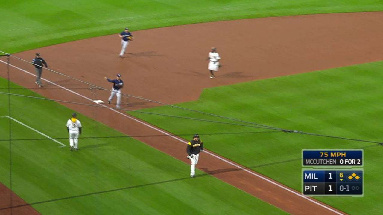 Shaw initiates the double play