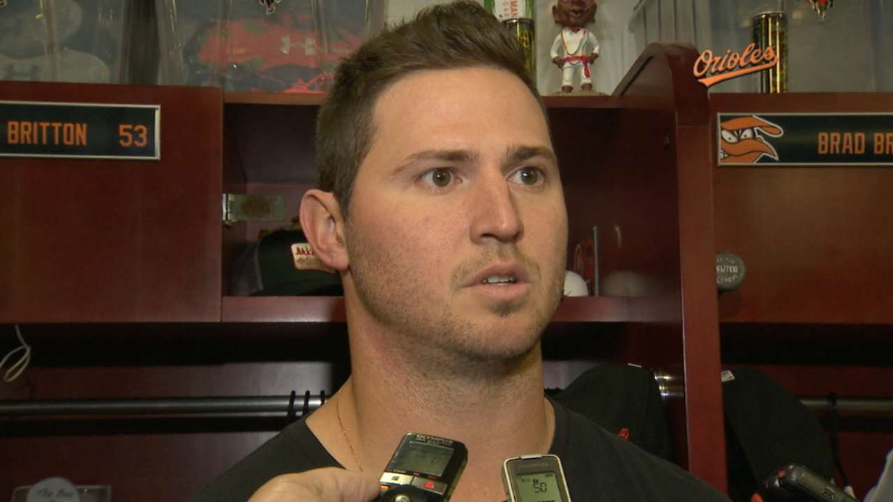 Forearm woes land Britton back on DL