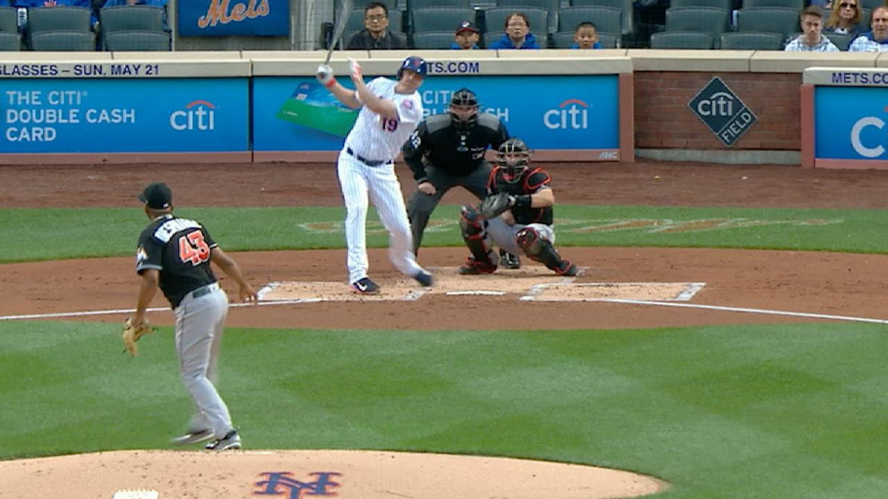 5-run 1st sets tone for Mets' rout of Marlins