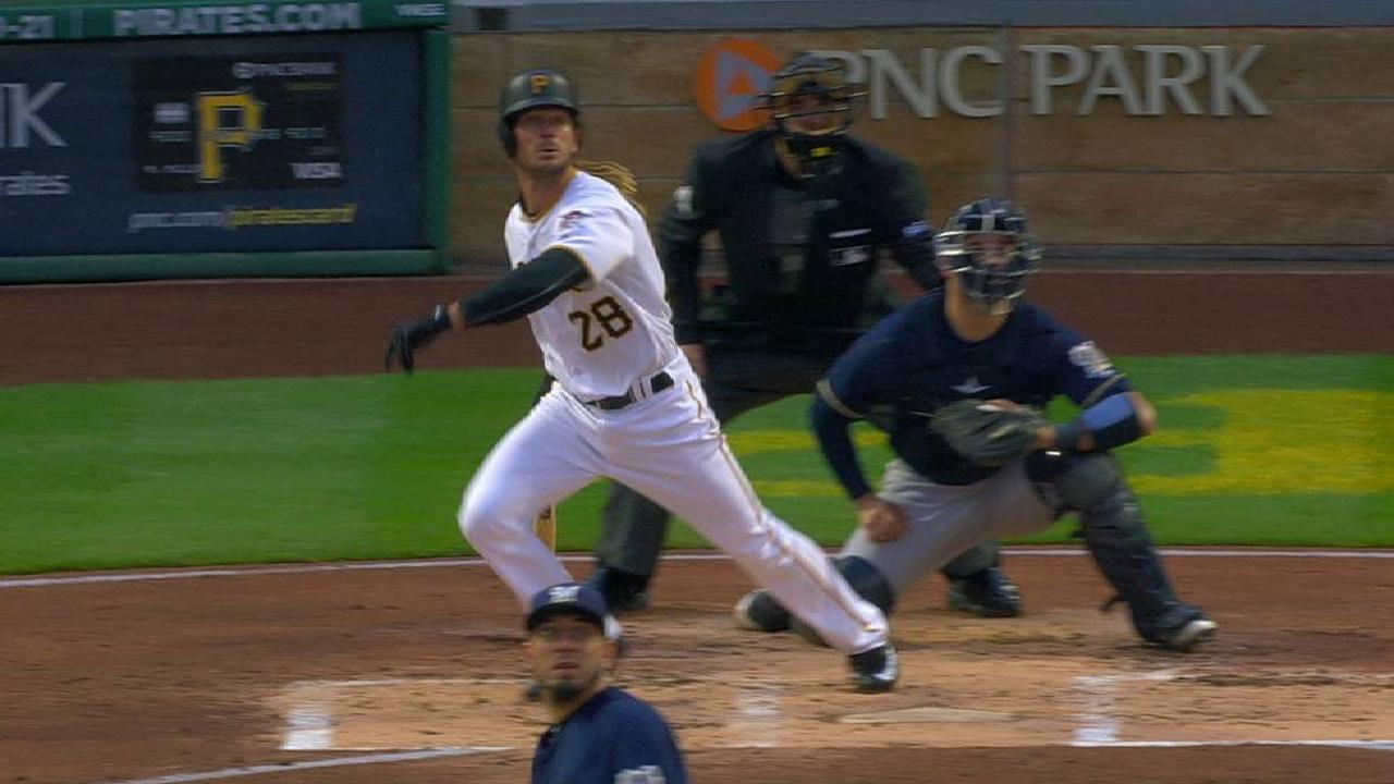 Jaso's double to center field