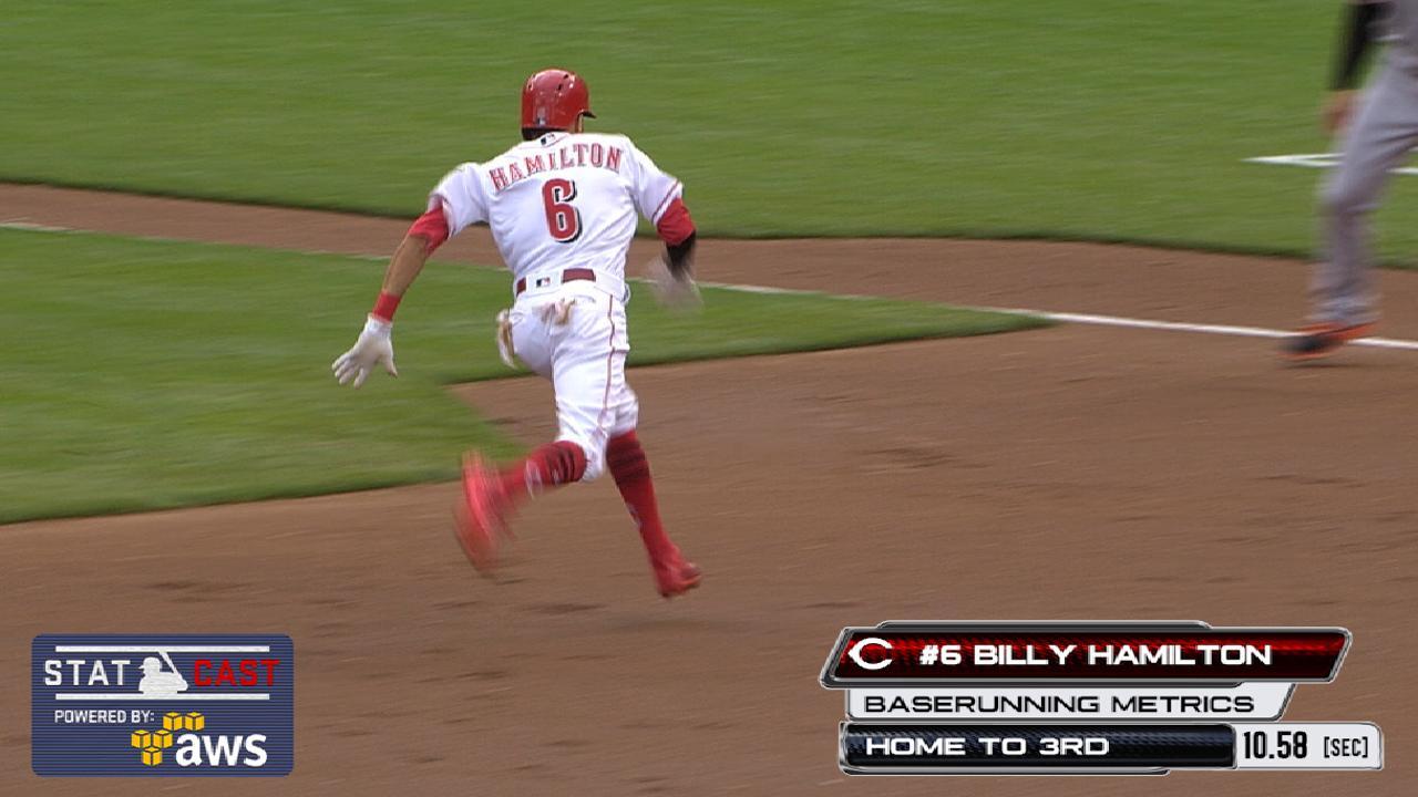 Statcast: Hamilton's elite speed