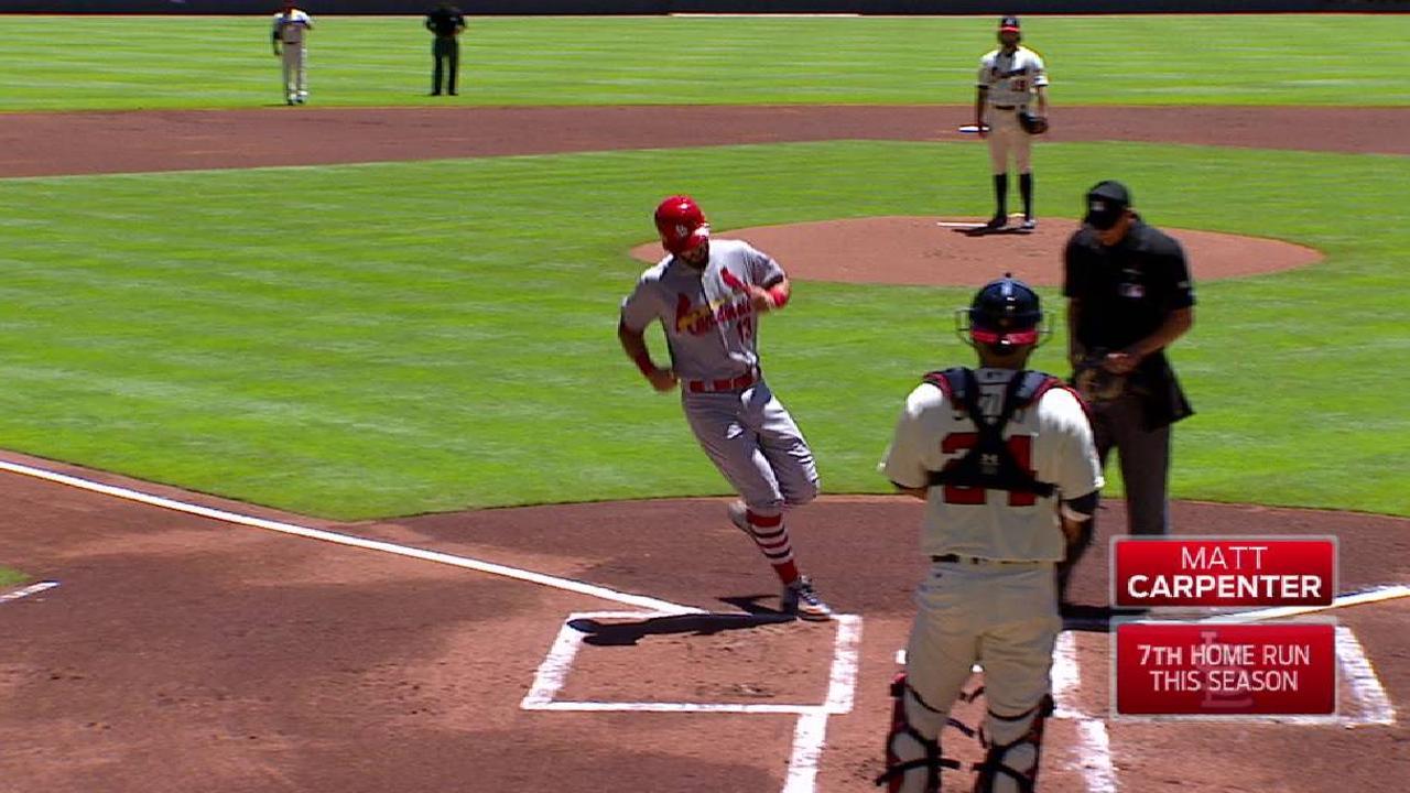 Carpenter's solo home run